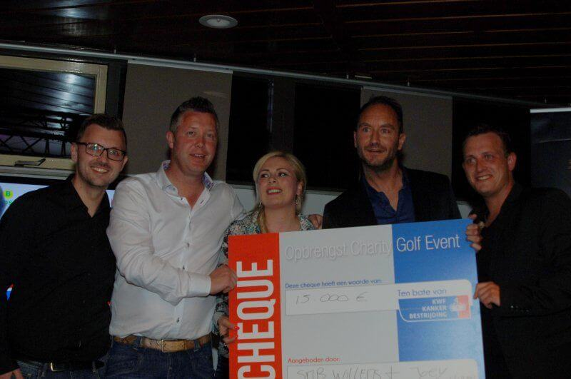 SMB Willems en Joey Hartkamp hebben met het Charity Golf Event op 8 mei jl. op Golfbaan Landgoed Welderen 15.000 euro opgehaald voor KWF Kankerbestrijding.