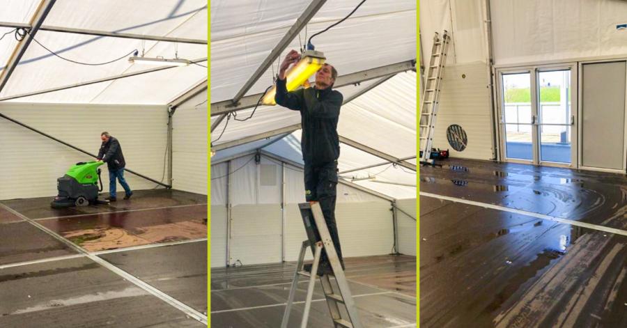 SMB Willems reinigt triage-tent